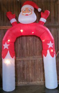 Weihnachtsmann Aufblasbar Bogen zu mieten bei Carpe Diem Events aus Kreis Heinsberg NRW